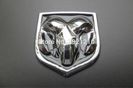 $enCountryForm.capitalKeyWord Canada - 2PCS LOT CAR STYLING 3D ABS Emblem Logo Front Rear Stickers Hood Trunk BOOT BONNET Badge Sheepshead Sticker for Dodge car styling