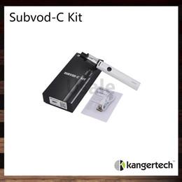 Subtank atomizer original online shopping - Kanger SUBVOD C Starter Kit ml Subtank Nano C Atomizer With mah Subvod Battery Kangertech Vaporizer Pen Kit Original