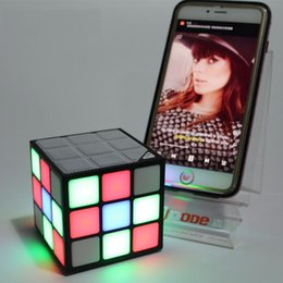 $enCountryForm.capitalKeyWord Australia - Magic Cube Design Colorful 36 LED Flash Bluetooth Mini Speaker Wireless Portable Super Bass Sound Subwoofer Handsfree for iPhone Tablet PC