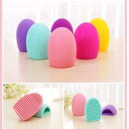 makeup brush cleaner wholesale Canada - Makeup Brushes Brush Egg Brushegg Silicone Brush Cleaning Egg Brush egg Cosmetic Brush Cleanser Cleaner Clean tool