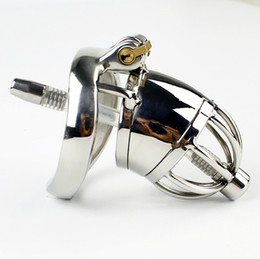 arc cock ring UK - New Lock Design Male Chastity Device With With arc-shaped Cock Ring Urethral Sounds Catheter Stainless Steel Chastity Belt Sex Toys