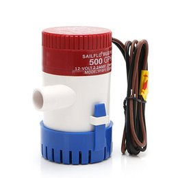 Water pump electric online shopping - 500GPH V Non automatic Marine Electric Submersible Bilge Pump yacht drainage Fishing Boat Water Bilge Pump marine