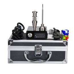 Aluminium cAse gold online shopping - Smart Mini Electric E Dab Nail Box Complete Kit Dry Herb Vaporizer Aluminium Case Gr2 Titanium Nails Carb Cap Fancier F710