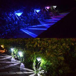 led diamond lens lamp stainless steel solar lights outdoor garden path landscape lighting lawn yard decoration bulbs solar led diamond path light for sale - Solar Yard Lights