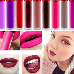 wholesale mixed makeup 2019 - 2016 Professional Cosmetics Makeup Matte Waterproof Lip Gloss Riot Wicked Cashmere Bleached Pink Velvet Matte Liquid Lip