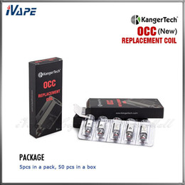Vertical organic cotton coils kanger online shopping - Original Kanger Subtank Vertical OCC Replacement Coils Authentic Kangertech Subtank Mini Nano Organic Cotton Coil OCC Coil ohm