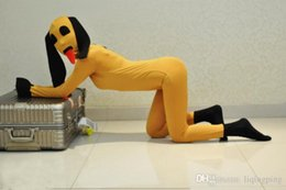 $enCountryForm.capitalKeyWord Australia - 2016 Hot Sale Funny Full Body Zentais Suits Unisex Yellow Color Lycra Spandex Halloween Costumes Dogs Cosplay,Can be Custom