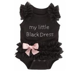 BaBy secrets online shopping - European American New Born Baby Clothes Girls Kids Romper Girl Lace Tutu My Little Black Dress Baby Clothes Climb Secret Bodysuits