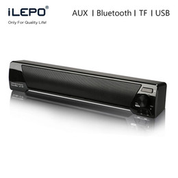 Usb Computer Sound Bar Canada - LP-09 Soundbar HIFI Box 10W USB Portable Audio Players Bluetooth Speaker with FM Column Sound Bar For Small TV Smart Phone Computer