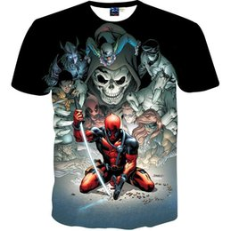 Japanese Fashion Cartoon Canada - Japanese Anime cartoon men boy t-shirt 3d print warrior skulls fashion brand t shirt summer tops tees shirt