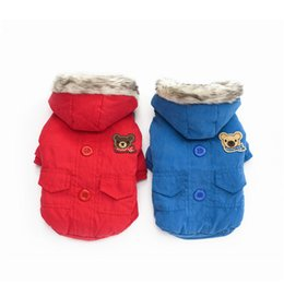 $enCountryForm.capitalKeyWord NZ - 2016 Winter Dog Pet Warm Cothing Soft Costume Puppy pet Coat Clothes Sport Sweater Hoodie Apparel Pet Shop Products