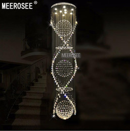 Long crystal staircase chandelier canada best selling long crystal long crystal staircase chandelier canada long spiral crystal chandelier ceiling light fixture for hotel mozeypictures Images