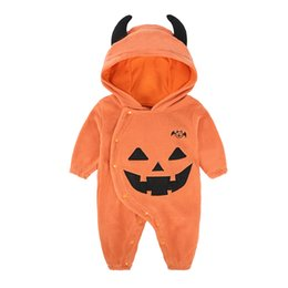 pumpkin costume 3t Canada - Baby Boys Girls Winter Clothes Rompers Halloween Pumpkin Monster Wings Overalls Jumpsuit Dress Infant Toddlers Cotton Clothes Costume