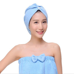Beauty & Health Nice 4pcs Microfiber Hair Drying Towels Fast Drying Hair Cap Long Hair Wrap Hair Towel Bath & Shower beige, Dark Purple, Light Pink, Light Blue