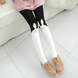 $enCountryForm.capitalKeyWord Canada - Kukucos Super Cute Rabbit Pantyhose Japanese Spring Autumn Fake High Tube Stitching Thickening Stockings Cotton Bottom Socks