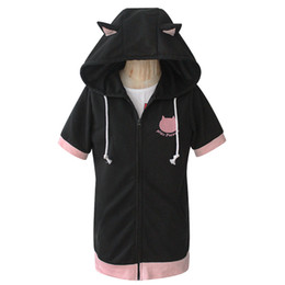Wholesale love live cosplay resale online - Love live Cosplay Costume Cat Ear Paw Jacket Hoodie Casual Sweatshirt Coat