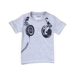 $enCountryForm.capitalKeyWord Canada - Free Shipping Children kids Summer boys T shirts with Listening To Music Design gray colors fashion cotton boys clothes