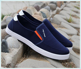80b7547a6e02 Men Pedal Shoes Canada - Breathable Casual Dawdler Trend Male Old Beijing  Cloth Canvas Shoe Pedal