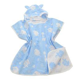$enCountryForm.capitalKeyWord UK - Wholesale- Soft Hooded baby bathrobe towel Cotton Gauze infant baby Absorbing Drying bath Towels Washcloth Infant Wrap Swaddles Gift D3