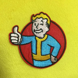 $enCountryForm.capitalKeyWord Australia - 3.1 inch hot sale! Wholesale Vault Boy Embroidered Iron On Patches Applique Badge sew on patch Game Film patch GP-009