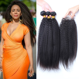 Coarse weave hair extensions online coarse weave hair extensions grade 9a malaysian kinky straight hair bundles with closure color 1b coarse yaki hair weaves with closure kinky straight hair extensions pmusecretfo Image collections