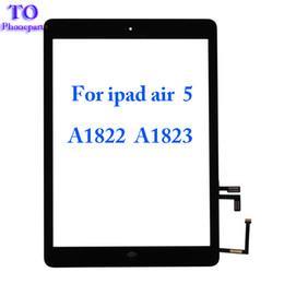 Venta al por mayor de 10 UNIDS Para iPad Quinto iPad A1822 A1823 Pantalla Táctil Digitalizador Frente Lente de Cristal Reemplazo DHL Libre