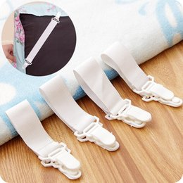 white single beds Australia - White Elastic Clips Bed Mattress Covers Sheet Grippers Blankets Sheet Holder Fastener Plastic Suspenders Clips for Home Fixed Tools