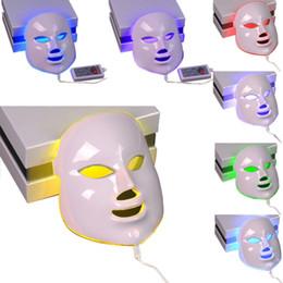 Venta al por mayor de 7 colores mascarillas faciales de la piel de las luces LED de fotones PDT rejuvenecimiento Cuidado Apretar terapia antienvejecimiento máquina de la belleza