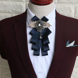 $enCountryForm.capitalKeyWord Canada - Married men tie blue original handmade tie British wedding groom Groomsmen Plaid high-end business suits tide