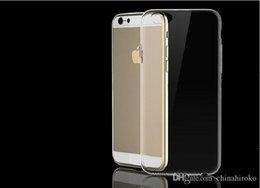 Venta al por mayor de Iphone Estuche delgado de silicona caso de TPU transparente de 0,3 mm para Apple iPhone6 /4.7 iPhone6 más /5.5 Iphone5 / 5S Iphone4 / 4S de DHL