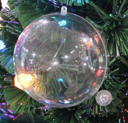 Clear Balls Australia - 20pcs lot 12cm Transparent Plastic Christmas Ball Candy Box For Wedding Xmas Decoration Supplies Free Shipping