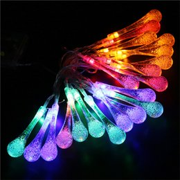 xmas tree raindrop waterdrop led string lights novelty outdoor garden decor light patio lantern 2m 20 leds led raindrop lights on sale - Raindrop Christmas Lights