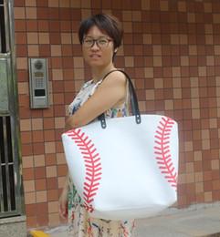 $enCountryForm.capitalKeyWord Canada - 150pcs ne stock black white Blanks Cotton Canvas Softball Tote Bags Baseball Bag Football Bags Soccer ball Bag with Hasps Closure Sports Bag