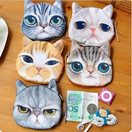 Discount cat business card holder 2018 cat business card holder on 2018 cat business card holder 3d print cat face coin purse animal small clutch women hand colourmoves