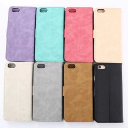 $enCountryForm.capitalKeyWord Canada - Retro colorful spot leather cover for iphone 6 6s plus High quaity leather wallet skin with card hoder stand case candy color