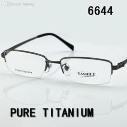 2f5366ba28 HOT SALE-Free shipping pure titanium men s eyeglasses 2017 HOT myopia reading  glasses bifocal eyewear prescription glasses YASHILU