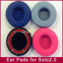 $enCountryForm.capitalKeyWord NZ - Wholesale Replacement Ear Pads Foam earpads Cushions pillow cover For Solo2 solo2.0 Wired Version headphone headset mp3 mp4 player 6colors
