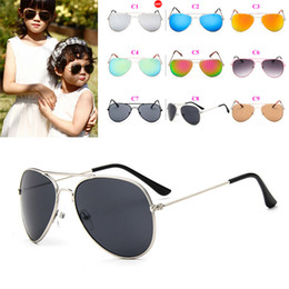 sunshade sunglasses NZ - Fashion Girls Sunglasses Children Beach Supplies Sunglasses UV protective eyewear baby sunglasses for boys Girls sunshades kids aviator 20PC