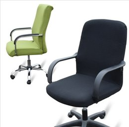 Discount office lift - Large size office chair Computer side zipper blanket cover design arm chair covers stretch chair lift rotating chair cov