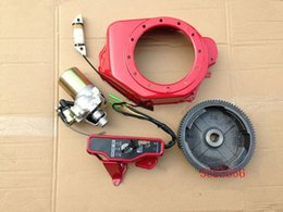honda engines parts UK - Electric start kit for Honda GX160 GX200 E*1800 2500 2KW engine w  fan cover flywheel charging coil switch
