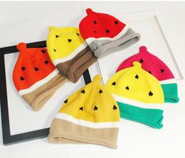 $enCountryForm.capitalKeyWord Canada - New Baby Creative Watermelon Beanie Hats Winter Warm Knitted Baby Hat Gorro Cap for Boys Girls