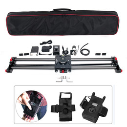 camera sliding Canada - Freeshipping Carbon Camera Slide Follow Focus Pan Motorized Electric Control Delay Dolly Slider Track Rail for Timelapse Photography