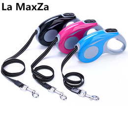 Barato Tamanho Livre Do Cão-2017 New Arrival Dog Leads Retractable Leashes Small Size 3M para Dog Walking Automatic Adjustable Leashes Frete Grátis