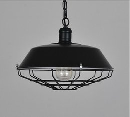 Dia Paintings NZ - 2016 new Dia*36 46cm American industrial loft Vintage pendant lights for dining room iron black rust painted E27 Edison bulb home lamp