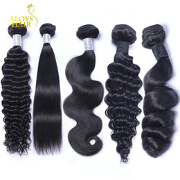 Loose Curls Brazilian Remy Hair UK - Brazilian Virgin Hair Body Wave Straight Loose Deep Curl Kinky Curly Kinky Straight Human Hair Weave Bundles Brazillian Remy Hair Extensions