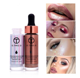 Face Glow Cream Australia - Liquid Highlighter Make Up Highlighter Cream Concealer Shimmer Face Glow Ultra-concentrated illuminating bronzing drop shipping