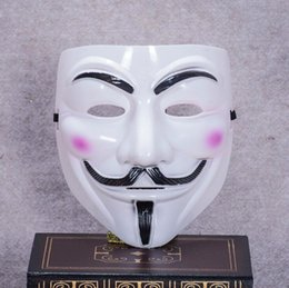 Barato V Para Trajes De Vendetta-Holloween Party Masks V para Vendetta Mask Anônimo Guy Fawkes Fancy Dress Acessório adulto Costume Party Cosplay Masks