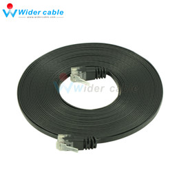 $enCountryForm.capitalKeyWord Canada - 5m Black 1.1mm Thickness Passed Fluke CAT6 Patch Cord Ultra Flat UTP CAT 6 Network Cable With RJ45