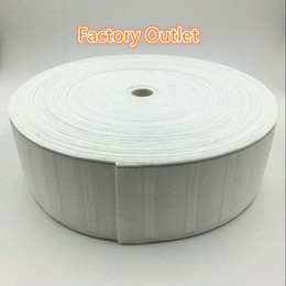Curtain hook cloth tape curtain accessories white ribbon tape thickening encryption curtain tape 10 meters on Sale