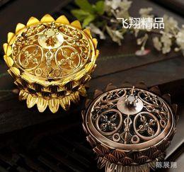 EastEr mEtal dEcor online shopping - Copper Lotus Incense Burner Alloy Mini Tibetan Incense Burner Sandalwood Censer Home Decor